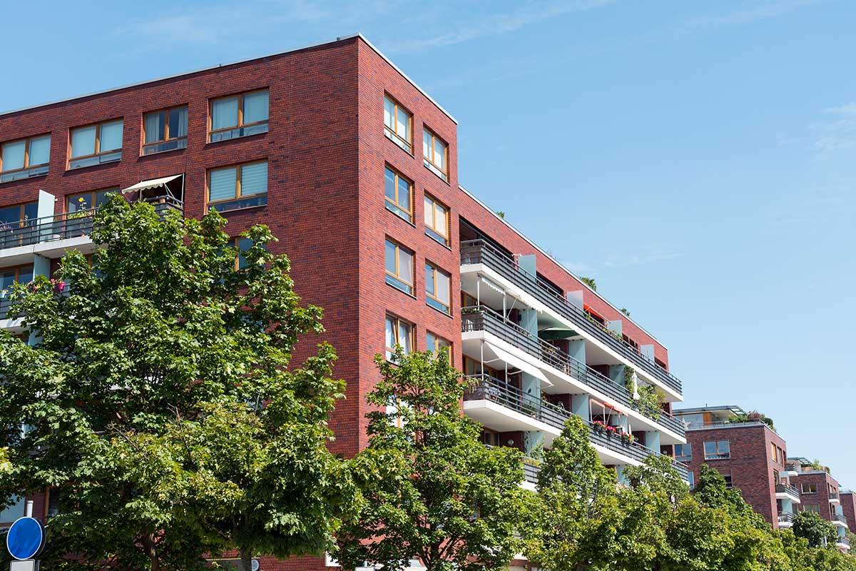 Red Brick Apartment Building