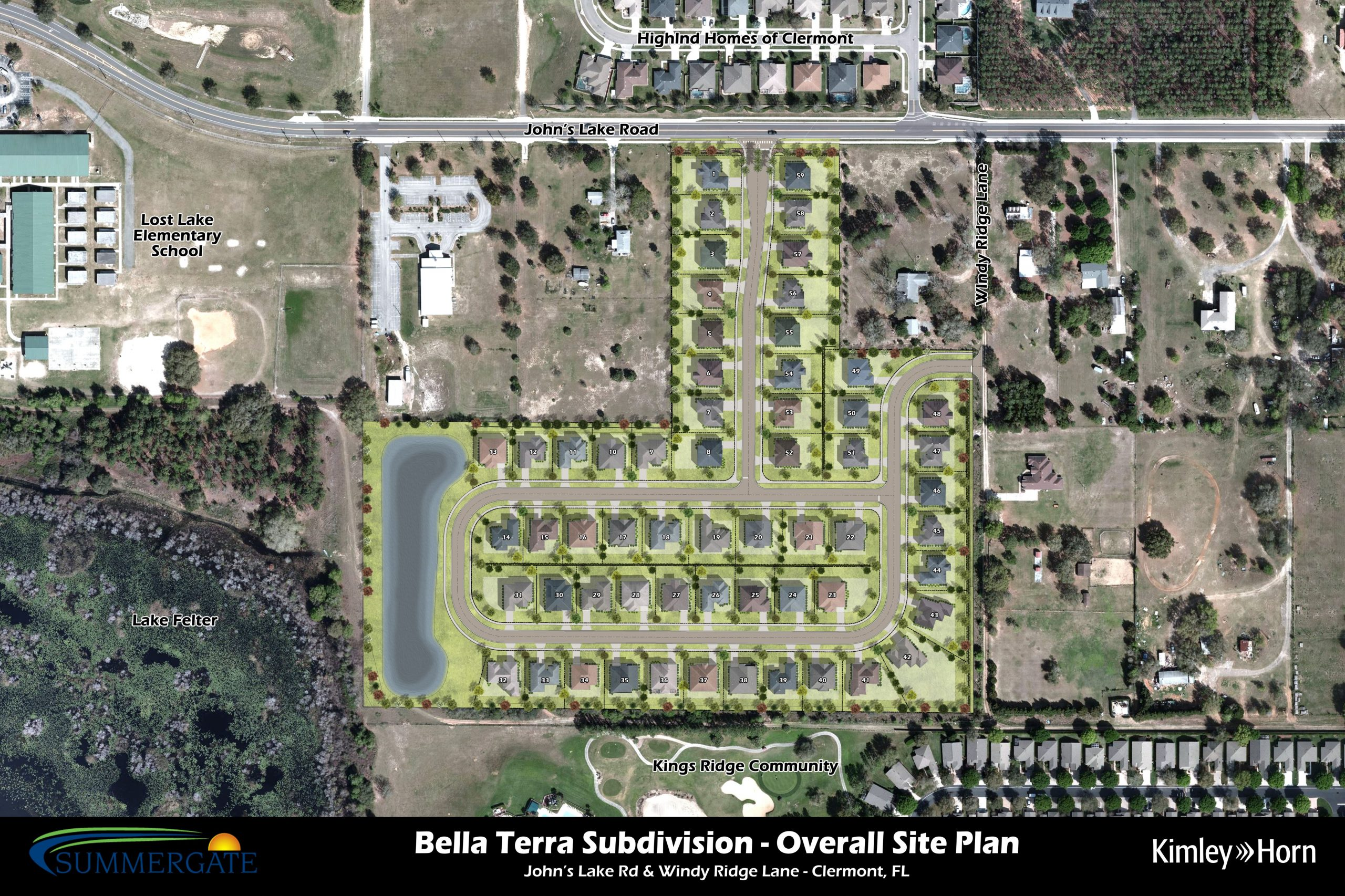 Bella Terra Overall Site Plan V2 Aerial Saturated