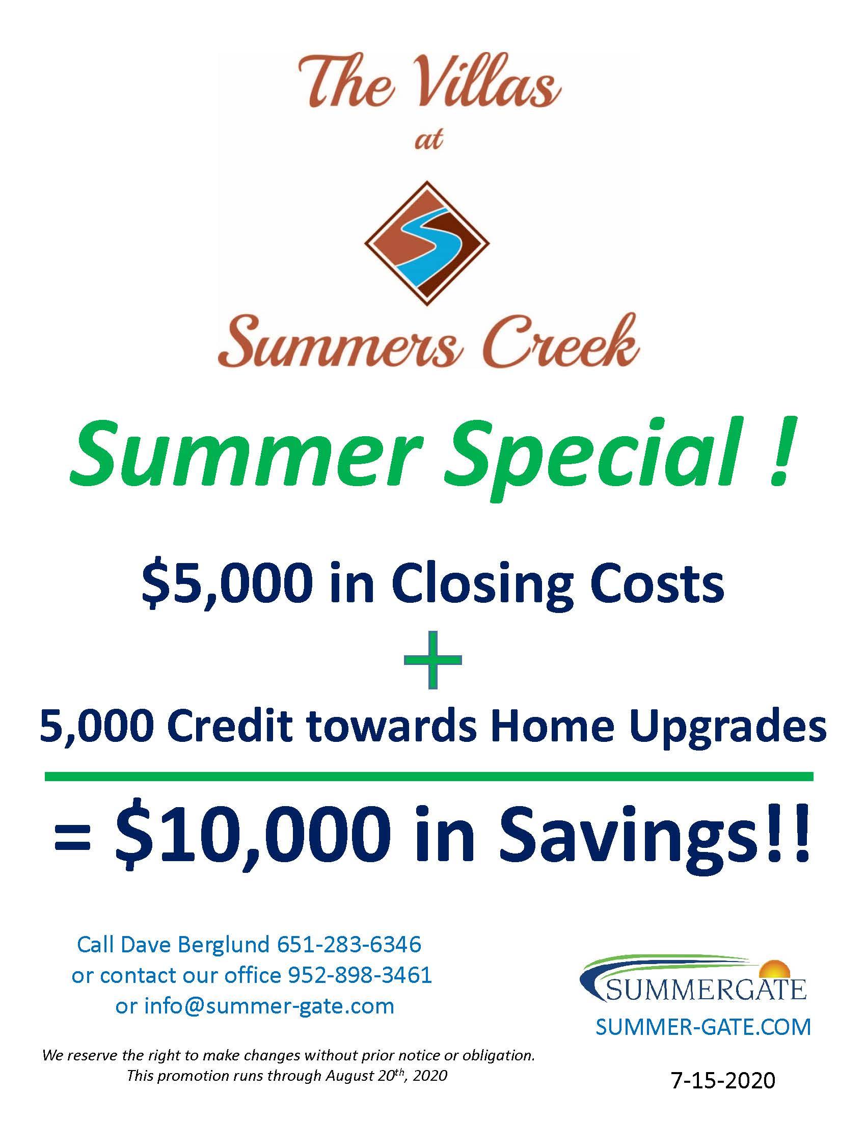 Summers Creek Summer Special 7 15 2020