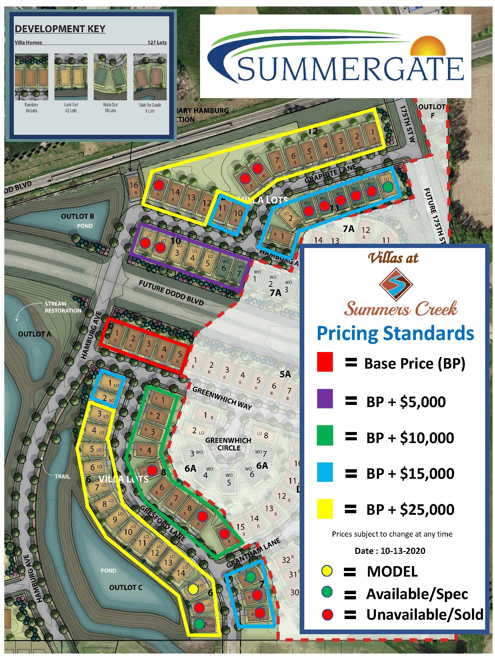 Villas Lot Map 10 13 2020