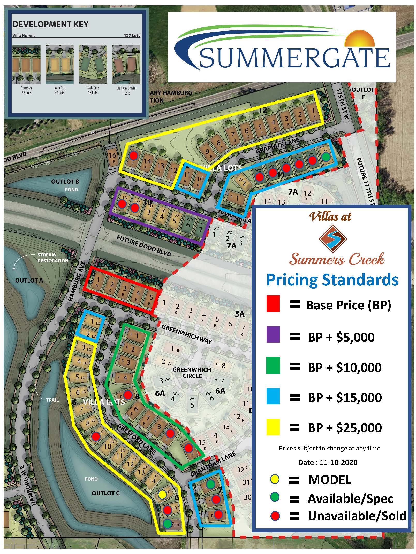 Villas Lot Map 11 10 2020
